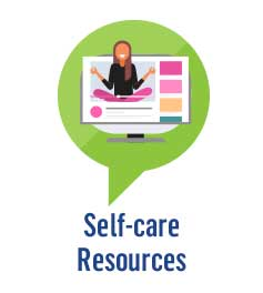 Self-care Resources button