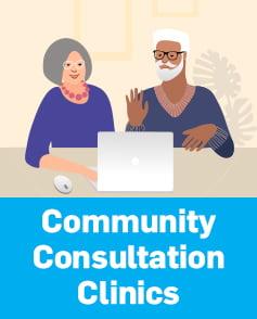 Community Consultation Clinics button