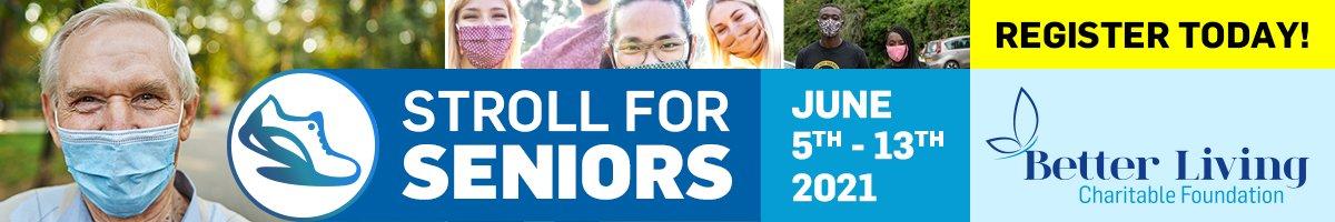 Stroll for Seniors registration banner