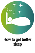 How to get better sleep Button