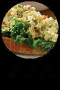 Open Face Egg Salad Sandwiches Button