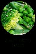 Sizzlin' Sesame Greens Button