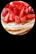 Strawberry Pancakes Button